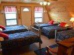 Upper level bunk room