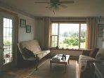 Living room at Slateville Cottage