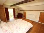 Willow Cottage Yafford - bedroom with view of pond