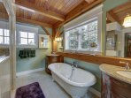 Main Level Master Bathroom with double sinks