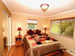 Comfortable and private master bedroom with en-suite bathroom w/ walk-in shower.