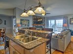 Whip up appetizing homemade meals in the fully equipped kitchen.