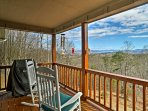 These mountain views could be yoursat this Hayesville vacation rental.