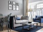 Light spacious living area