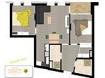 Grundriss der 67m² Wohnung