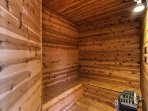 After a long day on the slopes of Ober Gatlinburg, head  to the private sauna for a relaxing steam.