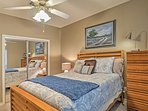 You're ensured a peaceful night on the queen bed in the third bedroom.