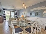 You'll feel right at home as you dine-in at the 6-person dining table.