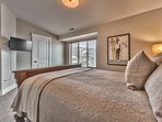 """Bedroom 2 with Queen Bed, 32"""" TV w/DVD and Shared Bath Access"""