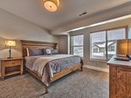 """Master Bedroom with King Bed, 50"""" Vizio Smart TV and Blu-Ray DVD, and Private Bath"""