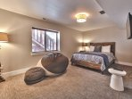 """1st Level Bedroom 5 with Queen Bed, 32"""" TV w/DVD and Private Bath"""