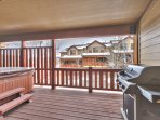 Private Deck with Hot Tub and BBQ Gril