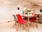 adjoined dining area
