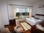 Double Master Bedroom 1 with Balcony