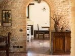 Arched doorways open the home