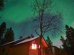 Aurora above
