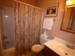 Full Size Bath in  Twin Bedroom, fully equipped.