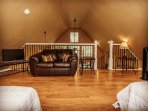 Upstairs loft with 2 queen beds.