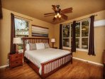 Master suite with King sized bed.