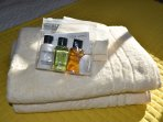 Each room has a complimentary toiletry pack.