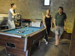 Have a game of pool, darts or air hockey in the games room.