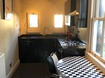 John Lewis breakfast table overlooking garden. Fridge freezer. Tumble dryer in separate room.