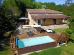 Beautiful stone cottage with a 7 by 3m heated pool.
