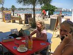 Many cafes along the Beach of Riells. Enjoy time with your Family and friends..