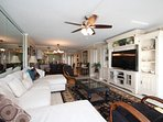 Large open concept condo w/ views of the beautiful Destin beaches throughout