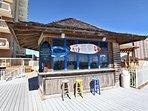 Tiki bar at the beach