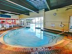 Indoor pool at the Pelican
