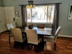Formal dining can seat up to 10