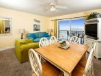 Large and open floorplan of PI 513 affords Gulf views throughout