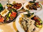 Enjoy healthy mediterranean food