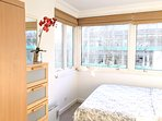 Bedroom 2 with double bed, drawers, wardrobe