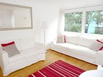 Sofabed, dining table and 5 chairs, sofa 2, black out blinds, TV, DVD, Netflix