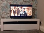 43' ultraHD smart TV with blu ray player, sound bar and Amazon Prime TV.