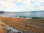 sand beach within walking distance