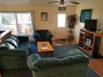 relax in the cozy living room after a day of hiking, kayaking or exploring Luray