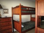 Guest Bedroom - Two Large Twin over Twin Bunkbeds with Dressers
