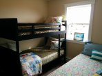 Bedroom #3 - Bunks and a Single - Blinds to be Installed