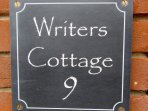 WRITERS COTTAGE SIGN