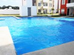 Large Swimming pool with palapa and services