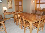 Enjoy dining together or entertain at the dining room table.