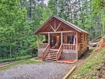 A cozy retreat awaits you at this quaint Cherry Log vacation rental cabin!
