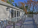 Enjoy cooking and eating on the back deck.