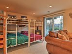 Kidz Zone Lower Level Sleeping Area features Six Bunk Beds and Gas Stove.