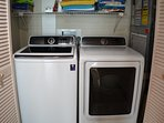 Full size washer and dryer right in the condo