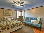 The third bedroom offers a queen and twin futon.