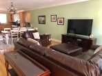 Enjoy the new living area furniture and large TV!